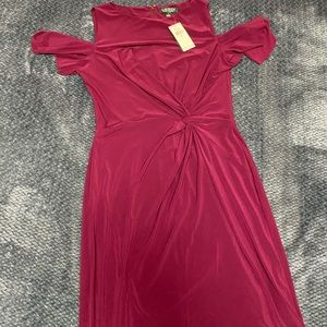 Brand new exotic ruby Ralph Lauren dress